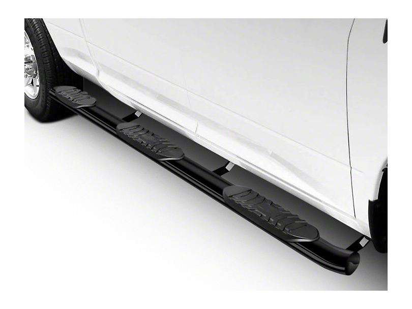 Black Horse Off Road 5 in. Extreme Wheel to Wheel Side Step Bars - Black (15-18 F-150 SuperCrew w/ 5.5 ft. Bed)