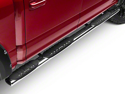 Black Horse Off Road 5 in. Extreme Wheel to Wheel Side Step Bars - Stainless (15-18 F-150 SuperCrew w/ 5.5 ft. Bed)
