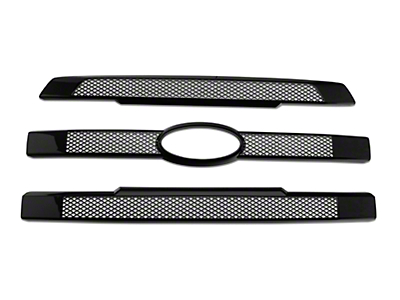 Black Horse Off Road Mesh Upper Overlay Grille - Black (15-17 Lariat)