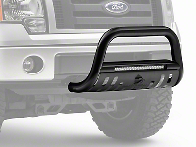 Black Horse Off Road 3 in. Beacon LED Bull Bar - Black (04-18 All, Excluding Raptor)