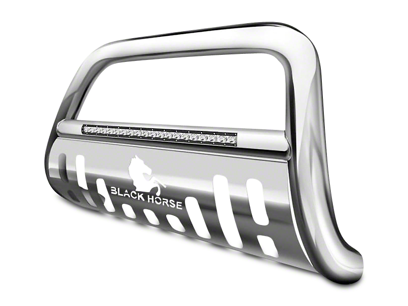 Black Horse Off Road 3 in. Beacon LED Bull Bar - Stainless (99-03 2WD F-150; 97-03 4WD F-150)