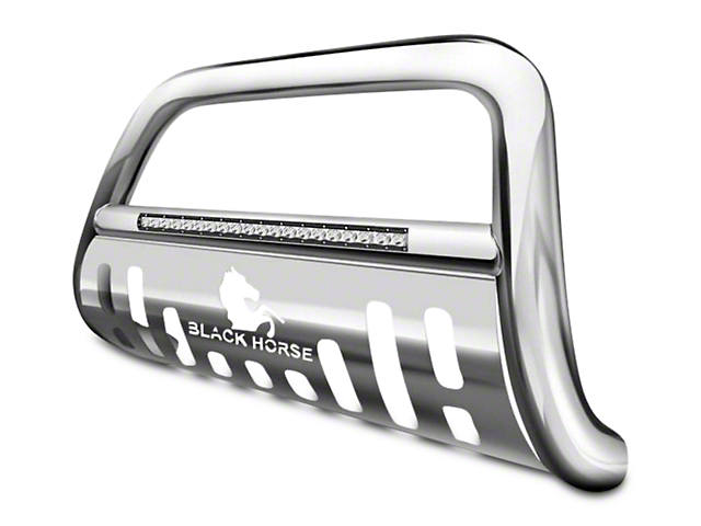 Black Horse Off Road 3 in. Beacon LED Bull Bar - Stainless (99-03 2WD, 97-03 4WD)