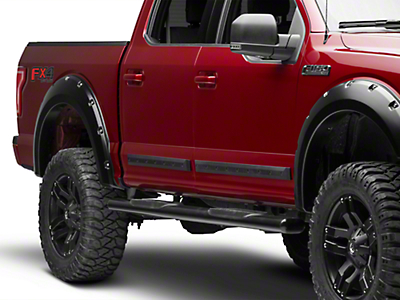 MMD Bolt-On Look Body Side Moldings - Matte Black (04-18 F-150 SuperCrew)