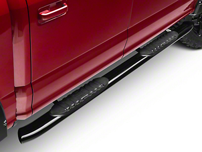 Black Horse Off Road 5 in. Extreme Side Step Bars - Black (15-18 SuperCab, SuperCrew)