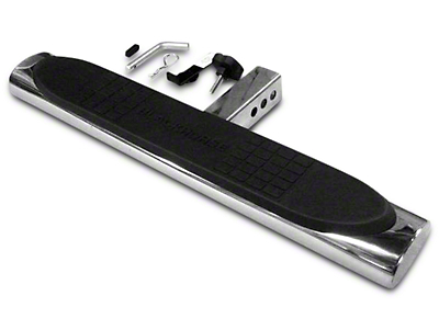 Black Horse Off Road 28 in. Oval Hitch Step - Stainless Steel (97-19 F-150)