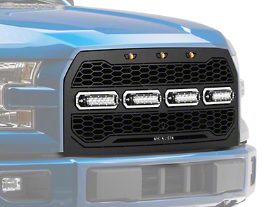 T-REX Revolver Series LED Upper Replacement Grille w/ Running Lights (15-17 All, Excluding Raptor)