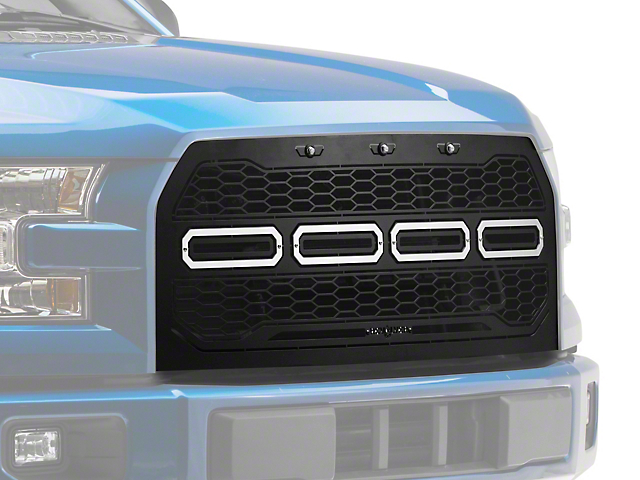 T-REX Revolver Series Upper Replacement Grille w/ Running Lights (15-17 All, Excluding Raptor)