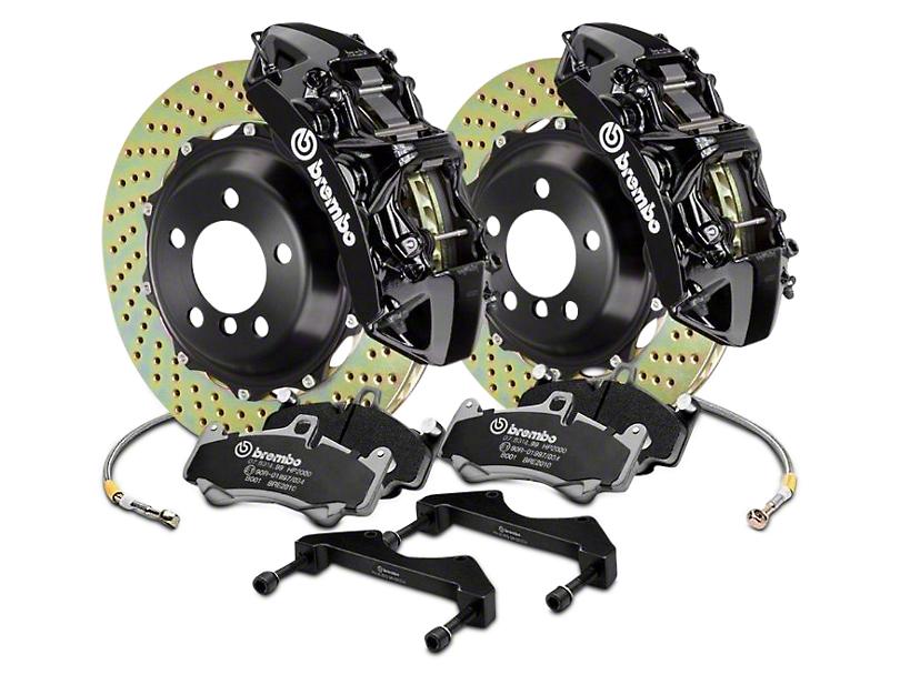 Brembo GT Series 6-Piston Front Brake Kit - 15 in. Cross Drilled Rotors - Black (17-18 F-150 Raptor)