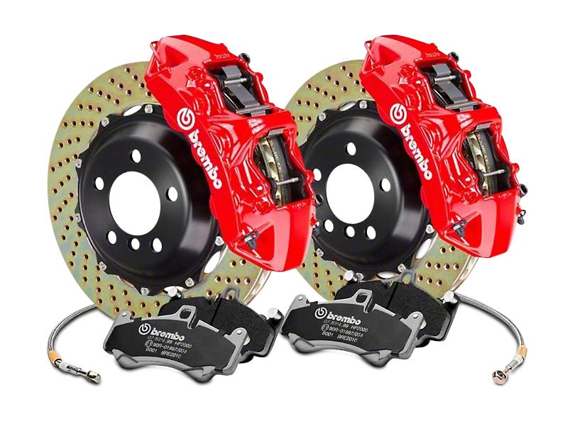 Brembo GT Series 6-Piston Front Brake Kit - 15 in. Cross Drilled Rotors - Red (17-18 F-150 Raptor)
