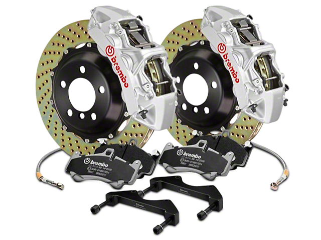 Brembo GT Series 6-Piston Front Brake Kit - 15 in. Cross Drilled Rotors - Silver (17-18 F-150 Raptor)