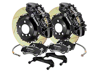 Brembo GT Series 6-Piston Front Brake Kit - 15 in. Type 1 Slotted Rotors - Black (17-18 F-150 Raptor)