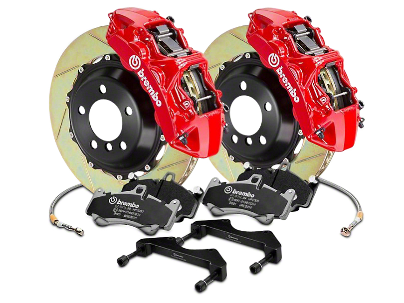 Brembo GT Series 6-Piston Front Brake Kit - 15 in. Type 1 Slotted Rotors - Red (17-18 F-150 Raptor)