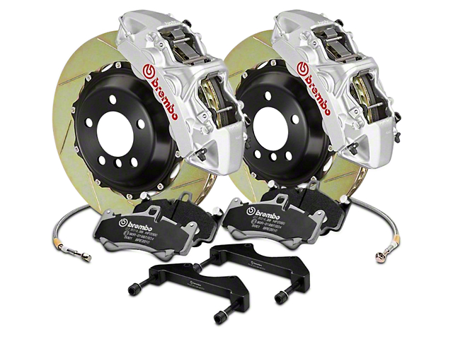 Brembo GT Series 6-Piston Front Brake Kit - 15 in. Type 1 Slotted Rotors - Silver (17-18 Raptor)