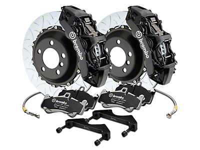 Brembo GT Series 6-Piston Front Brake Kit - 15 in. Type 3 Slotted Rotors - Black (17-18 Raptor)