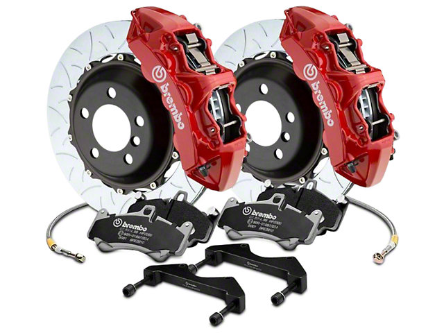 Brembo GT Series 6-Piston Front Brake Kit - 15 in. Type 3 Slotted Rotors - Red (17-18 F-150 Raptor)
