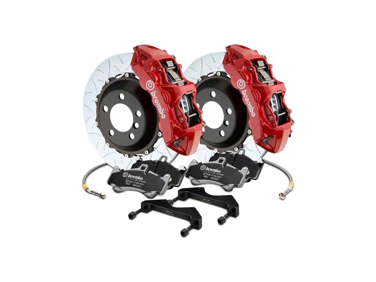 Brembo Brake Kit >> Brembo Gt Series 6 Piston Front Big Brake Kit W 15 In Type 3 Slotted Rotors Red Calipers 17 19 F 150 Raptor