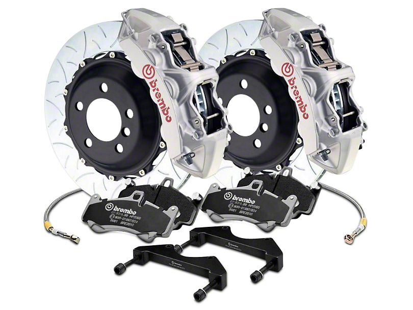 Brembo GT Series 6-Piston Front Brake Kit - 15 in. Type 3 Slotted Rotors - Silver (2017 Raptor)