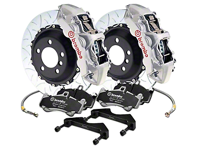 Brembo GT Series 6-Piston Front Brake Kit - 15 in. Type 3 Slotted Rotors - Silver (17-18 F-150 Raptor)