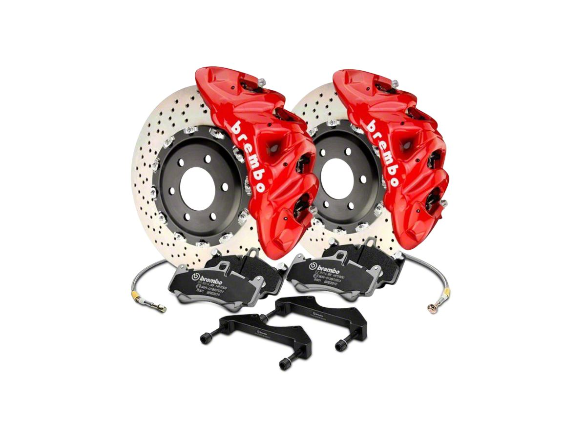 Brembo Brake Kit >> Brembo Gt Series 8 Piston Front Big Brake Kit W 16 2 In Cross Drilled Rotors Red Calipers 17 20 F 150 Raptor