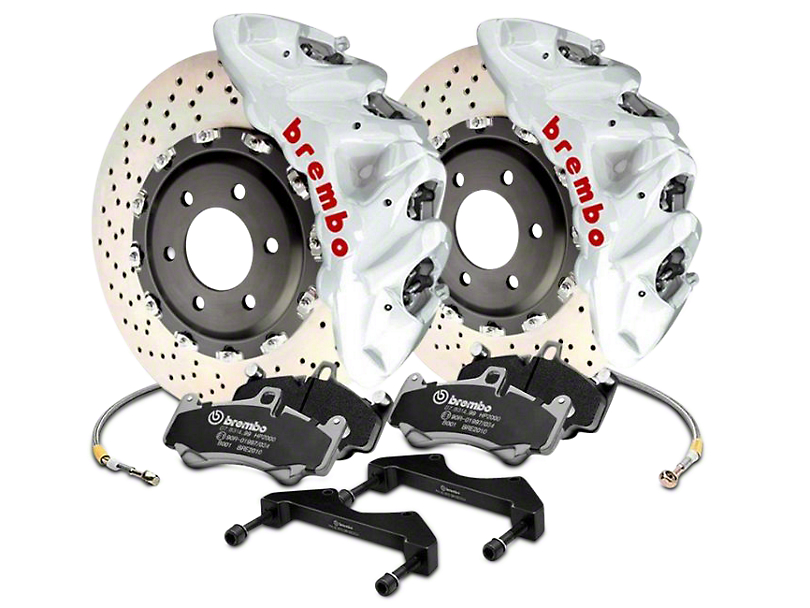 Brembo GT Series 8-Piston Front Brake Kit - 16.2 in. Cross Drilled Rotors - White (17-18 Raptor)
