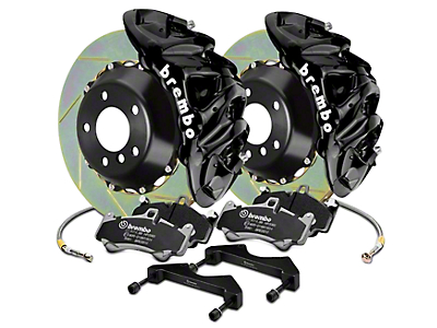 Brembo GT Series 8-Piston Front Brake Kit - 16.2 in. Type 1 Slotted Rotors - Black (17-18 Raptor)