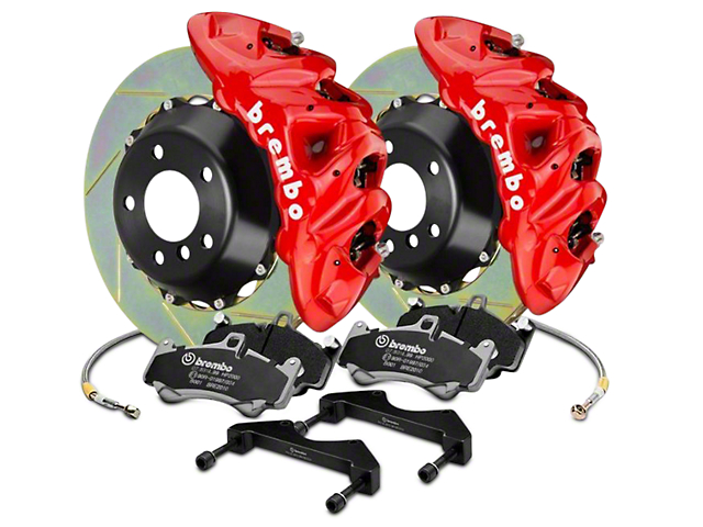 Brembo GT Series 8-Piston Front Brake Kit - 16.2 in. Type 1 Slotted Rotors - Red (2017 Raptor)