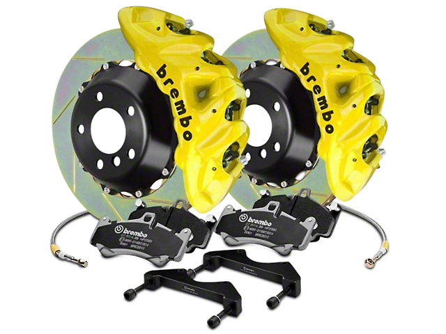 Brembo GT Series 8-Piston Front Brake Kit - 16.2 in. Type 1 Slotted Rotors - Yellow (2017 Raptor)