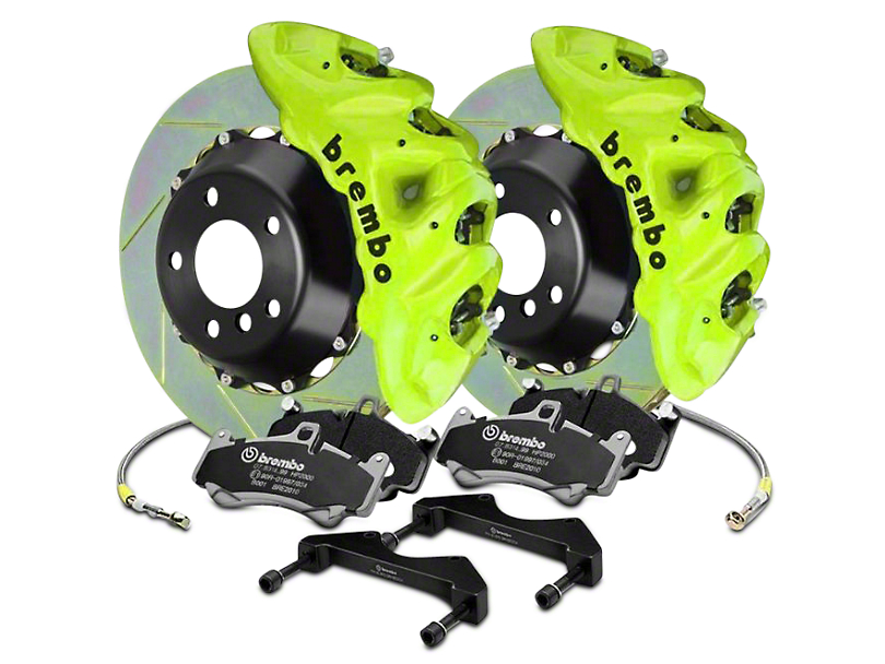Brembo GT Series 8-Piston Front Brake Kit - 16.2 in. Type 1 Slotted Rotors - Fluorescent Yellow (17-18 F-150 Raptor)
