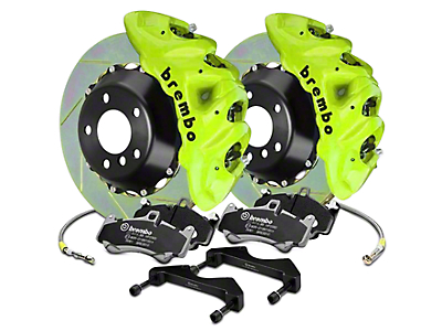Brembo GT Series 8-Piston Front Brake Kit - 16.2 in. Type 1 Slotted Rotors - Fluorescent Yellow (17-18 Raptor)