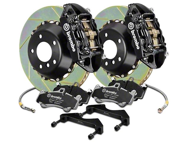 Brembo GT Series 4-Piston Rear Brake Kit - 15 in. Type 1 Slotted Rotors - Black (17-18 F-150 Raptor)