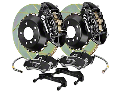 Brembo GT Series 4-Piston Rear Brake Kit - 15 in. Type 1 Slotted Rotors - Black (17-18 F-150 Raptor)