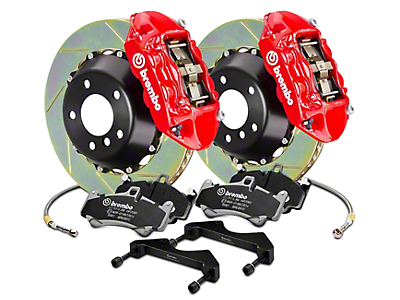 Brembo GT Series 4-Piston Rear Brake Kit - 15 in. Type 1 Slotted Rotors - Red (17-18 F-150 Raptor)