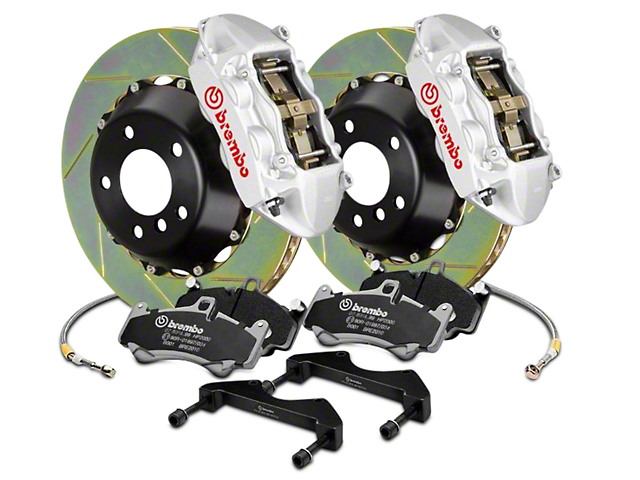 Brembo GT Series 4-Piston Rear Brake Kit - 15 in. Type 1 Slotted Rotors - Silver (17-18 Raptor)