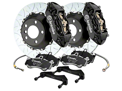 Brembo GT Series 4-Piston Rear Brake Kit - 15 in. Type 3 Slotted Rotors - Black (17-18 F-150 Raptor)