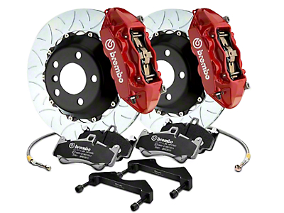 Brembo GT Series 4-Piston Rear Brake Kit - 15 in. Type 3 Slotted Rotors - Red (17-18 F-150 Raptor)
