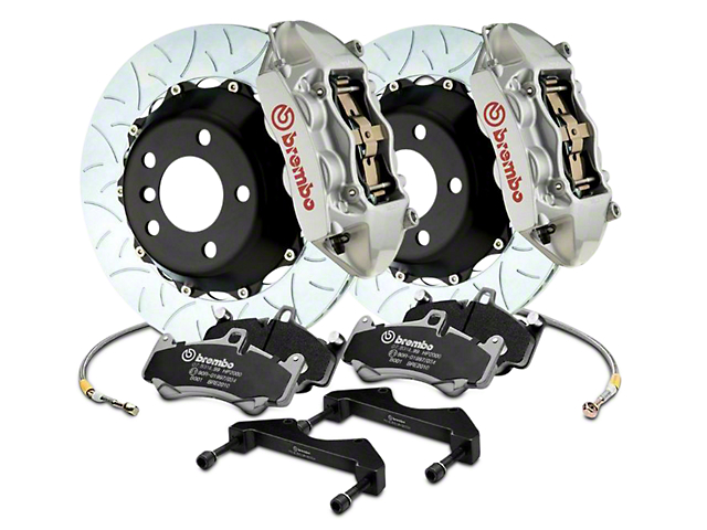 Brembo GT Series 4-Piston Rear Brake Kit - 15 in. Type 3 Slotted Rotors - Silver (17-18 Raptor)