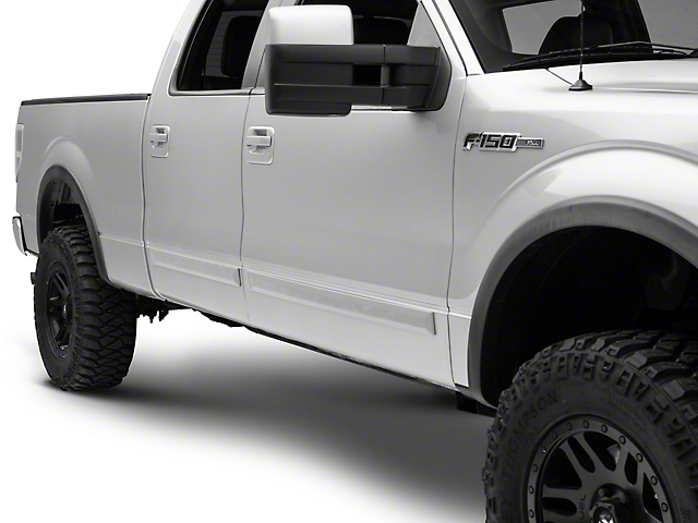 RedRock 4x4 Rugged Look Body Side Moldings - Unpainted (09-20 F-150 SuperCrew)