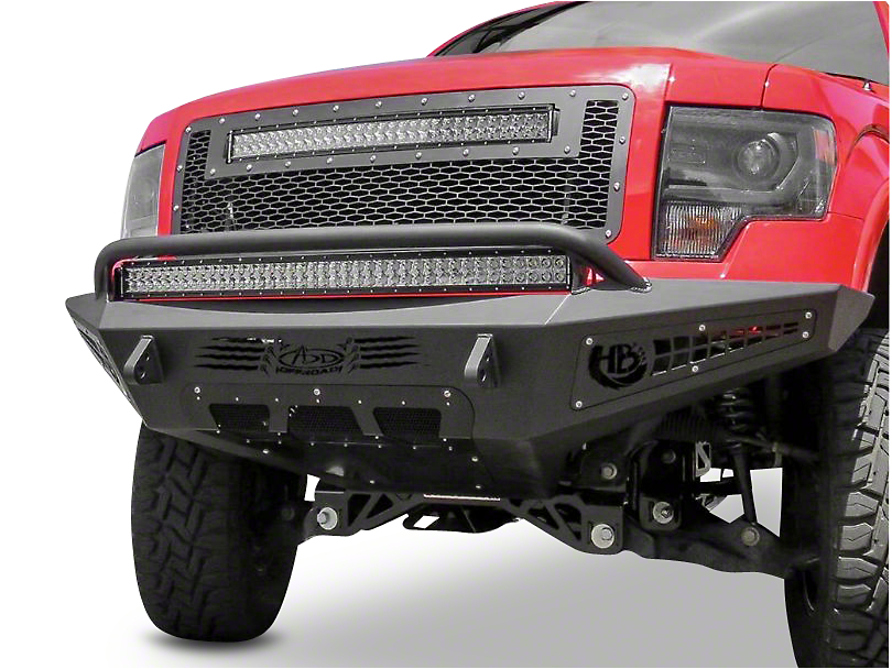 Addictive Desert Designs HoneyBadger Front Bumper w/ Intercooler Vents (09-14 All, Excluding Raptor)