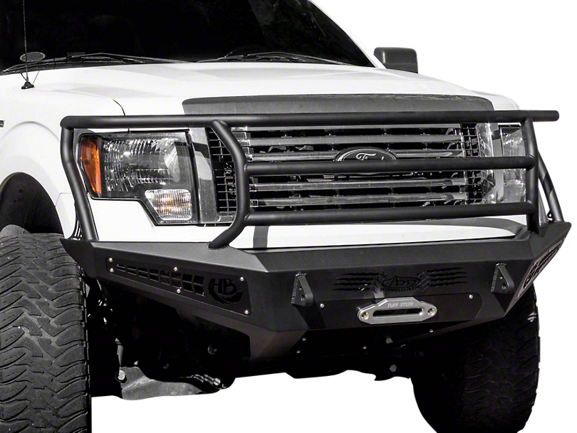 Addictive Desert Designs HoneyBadger Rancher Front Bumper w/ Winch Mount (09-14 All, Excluding EcoBoost & Raptor)