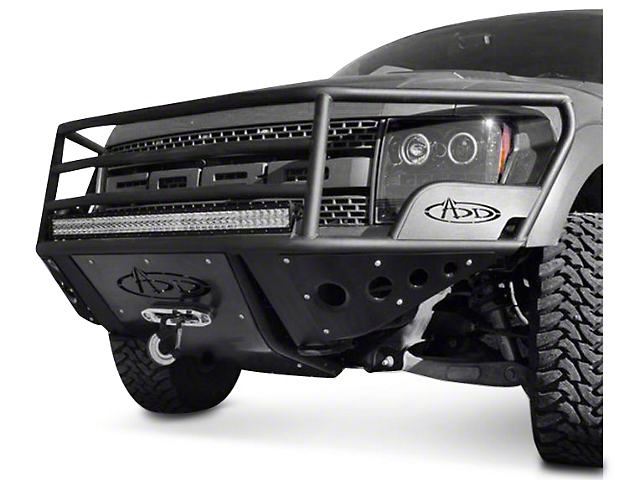 Addictive Desert Designs Rancher Front Bumper w/ Stealth Panels & Winch Mount (10-14 Raptor)