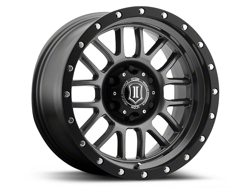 ICON Vehicle Dynamics Alpha Gunmetal 6-Lug Wheel - 17x8.5 (04-17 All)
