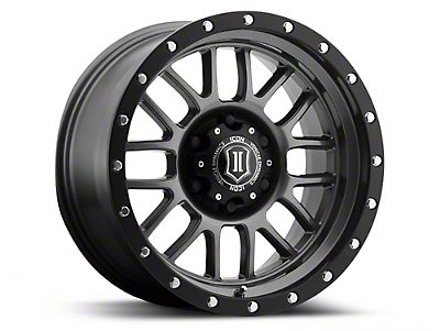ICON Vehicle Dynamics Alpha Gunmetal 6-Lug Wheel - 17x8.5 (04-17 All)
