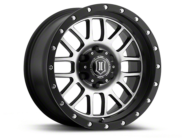 ICON Vehicle Dynamics Alpha Satin Black Machined 6-Lug Wheel - 17x8.5 (04-18 All)