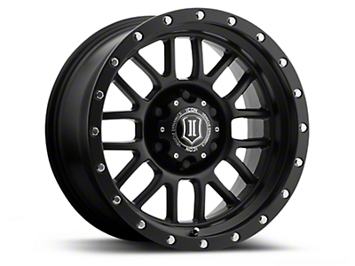 ICON Vehicle Dynamics Alpha Satin Black 6-Lug Wheel - 17x8.5 (04-18 All)