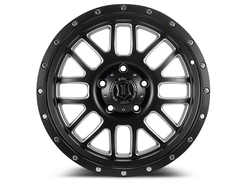 ICON Vehicle Dynamics Alpha Satin Black Milled 6-Lug Wheel - 20x9 (04-18 All)