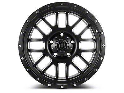 ICON Vehicle Dynamics Alpha Satin Black Milled 6-Lug Wheel - 20x9 (04-18 F-150)