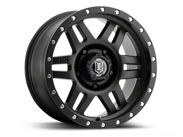 ICON Vehicle Dynamics Six Speed Satin Black 6-Lug Wheel - 17x8.5 (04-17 All)
