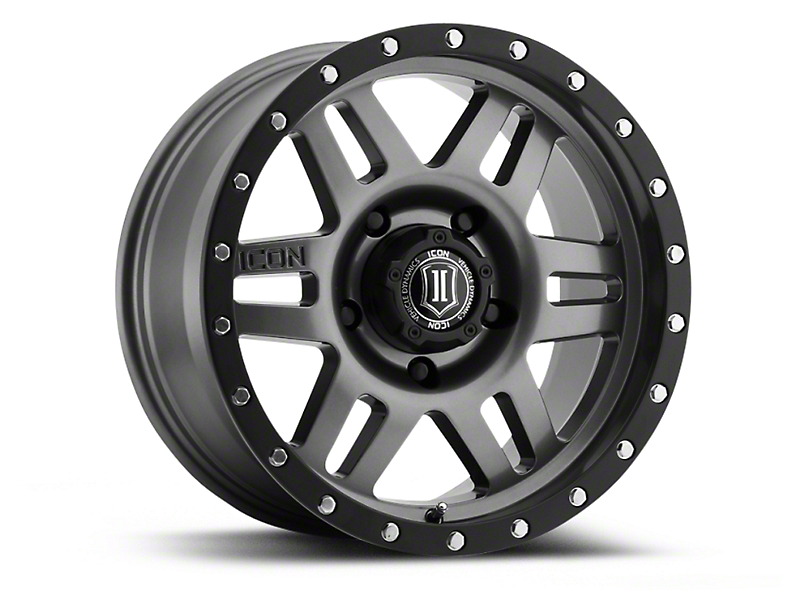 ICON Vehicle Dynamics Six Speed Gunmetal 6-Lug Wheel - 17x8.5 (04-18 All)