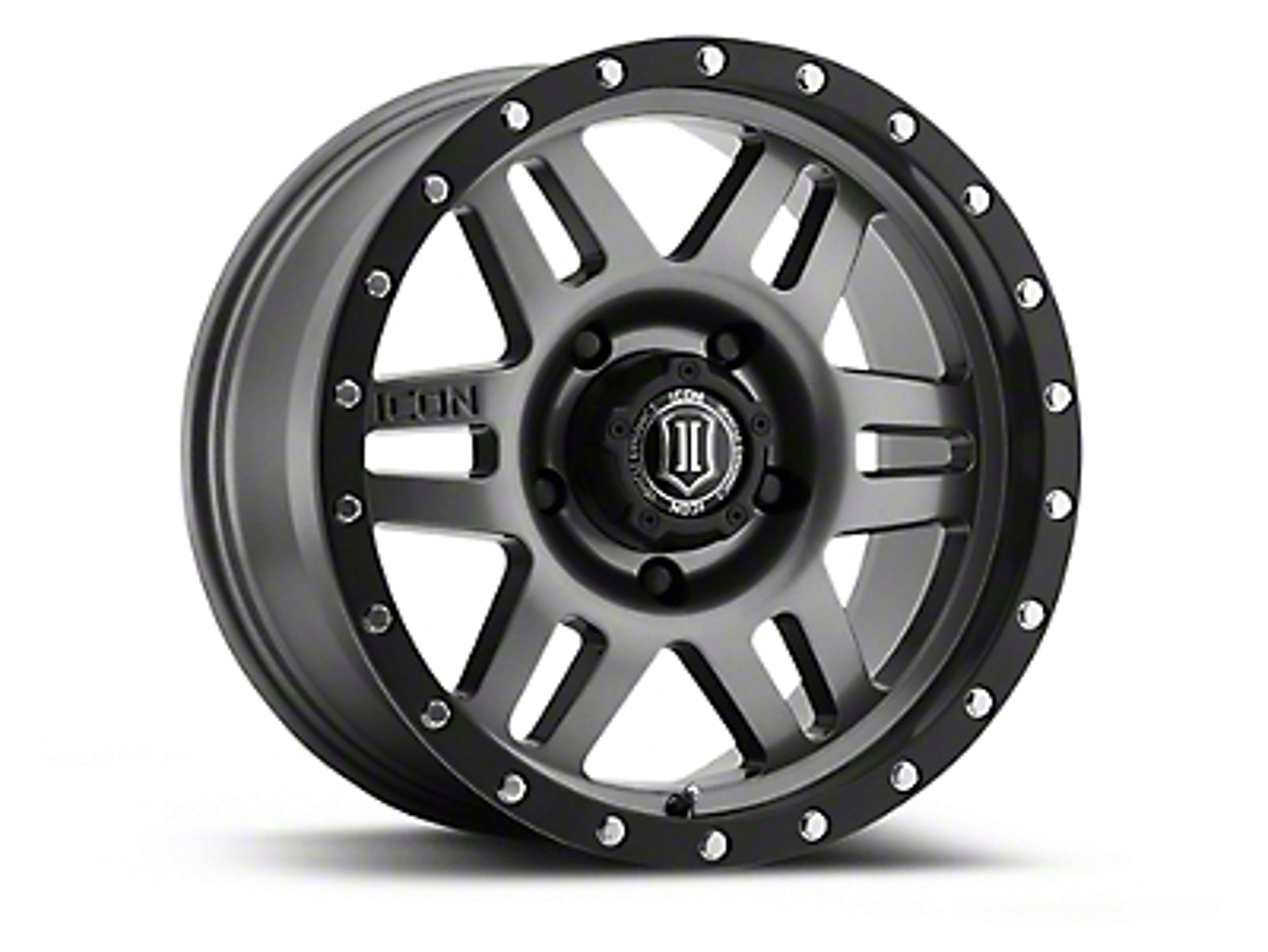 ICON Vehicle Dynamics Six Speed Gunmetal 6-Lug Wheel - 17x8.5 (04-17 All)