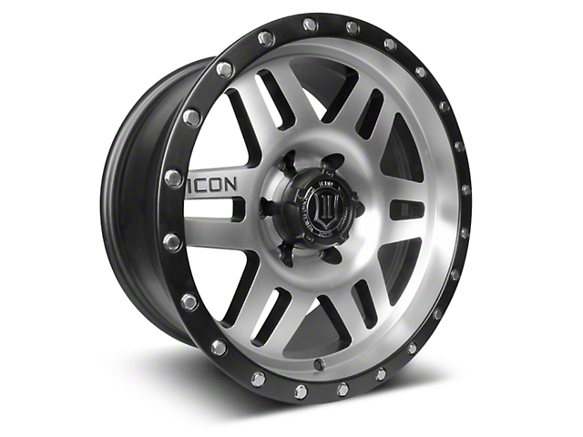 ICON Vehicle Dynamics Six Speed Satin Black Machined 6-Lug Wheel - 17x8.5 (04-18 F-150)